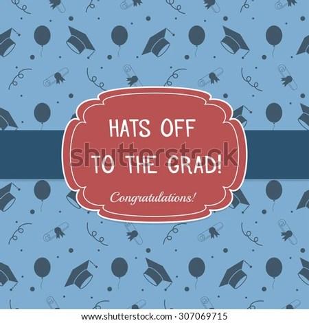 Vector Illustration Colorful Graduation Invitation Certificate Stock
