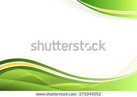 Background Abstract Green Yellow Waves Vector Stock Vector (Royalty
