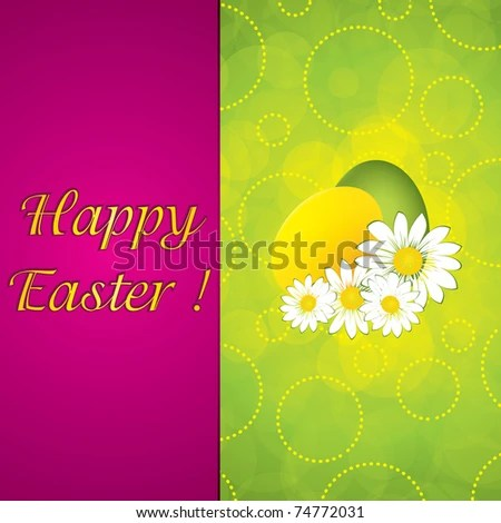 Green Easter Greeting Card Templatevector Stock Vector 74772028 - easter greeting card template