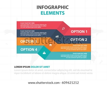 Abstract Colorful Label Business Timeline Infographics Stock Vector