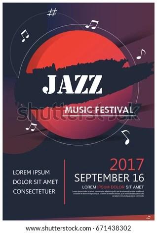 Music Party Jazz Band Poster Jazz Stock Vector 671438302 - Shutterstock - music brochure