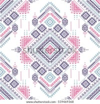 Pastel Color Tribal Vector Seamless Pattern Stock Vector ...