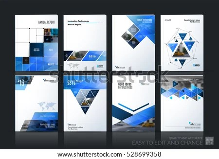Business Vector Set Brochure Template Layout Stock Photo (Photo