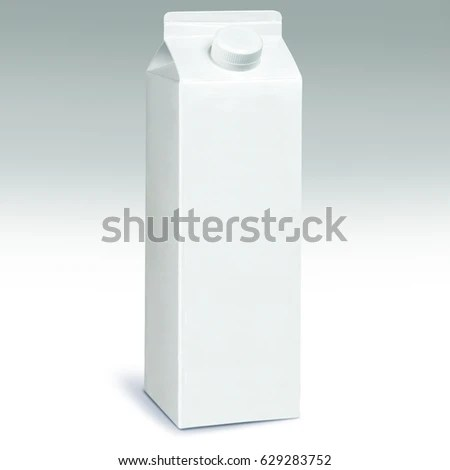 1 Liter Milk Carton Pack Template Stock Photo (Safe to Use