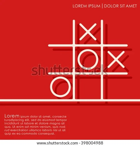 Line Tic Tac Toe XO Game Stock Vector 398004988 - Shutterstock