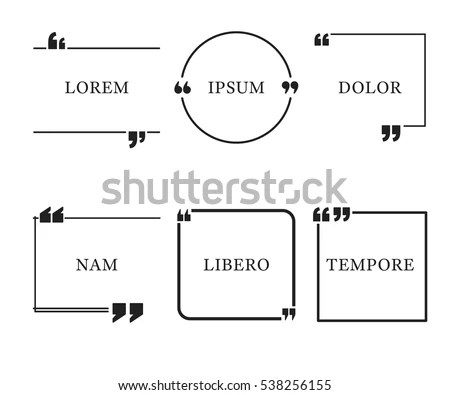 Quote Template Quotes Speech Box Bubble Stock Vector 538256155 - quote template