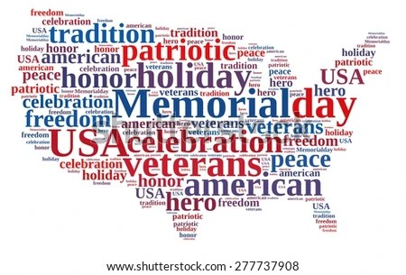 Illustration Word Cloud About Memorial Day Stock Illustration