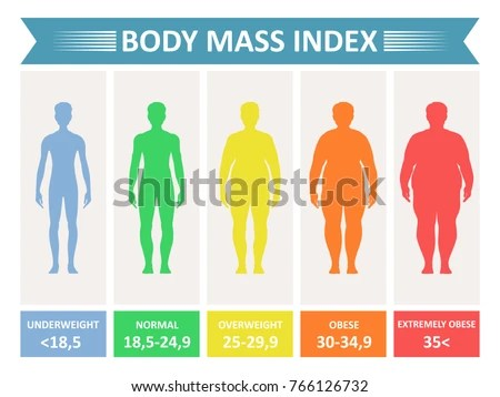 Index Mass Body Rating Chart Body Stock Vector 766126732 - Shutterstock - body fat chart