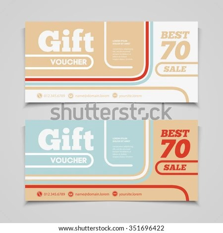 Two Coupon Voucher Design Gift Voucher Stock Vector HD (Royalty Free - coupon voucher template