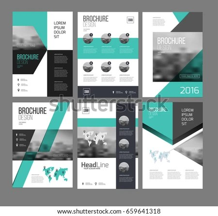 Six Flyer Marketing Templates Photo Text Stock Photo (Photo, Vector