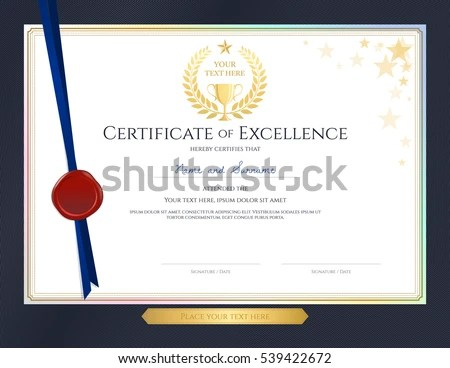 Elegant Certificate Template Excellence Achievement Appreciation - free appreciation certificate templates