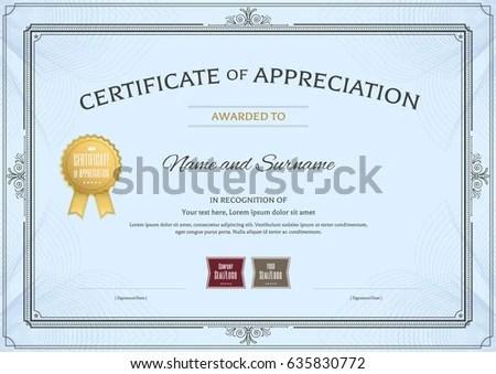 sample certificate of appreciation lukex - sample certificate of appreciation