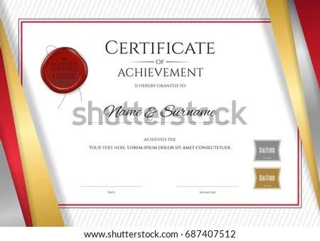 Certificate Appreciation Template Award Ribbon Vintage Stock - certificate design format