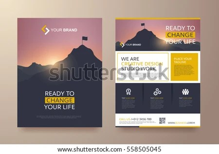 Poster Flyer Pamphlet Brochure Cover Design Stock Vector 558505045 - pamphlet layout template