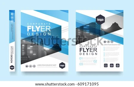 Poster Flyer Pamphlet Brochure Cover Design Stock Photo (Photo - pamphlet layout template