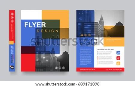 Poster Flyer Pamphlet Brochure Cover Design Stock Vector 609171098 - pamphlet layout template