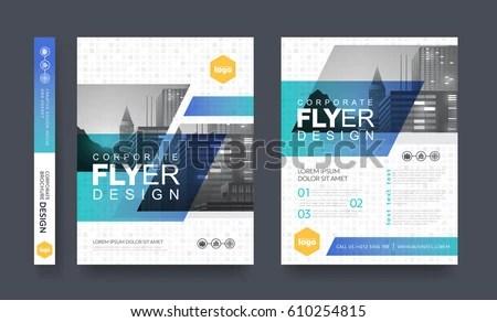 Poster Flyer Pamphlet Brochure Cover Design Stock Vector 610254815 - pamphlet layout template