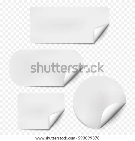 Pages Curl Set Shadow On Blank Stock Vector HD (Royalty Free - Culring Pajis
