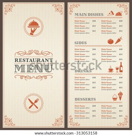 Elegant Restaurant Menu Templates, 24+ Dinner Party Menus Sample