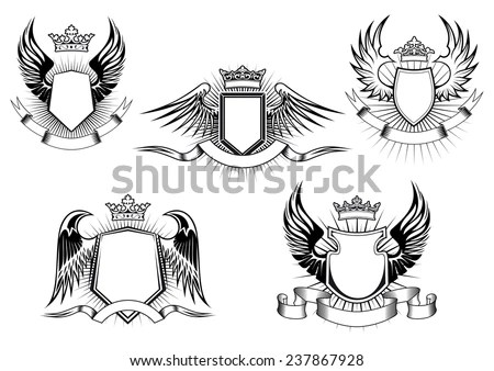 Coat Of Arms Template With Wings Best Free