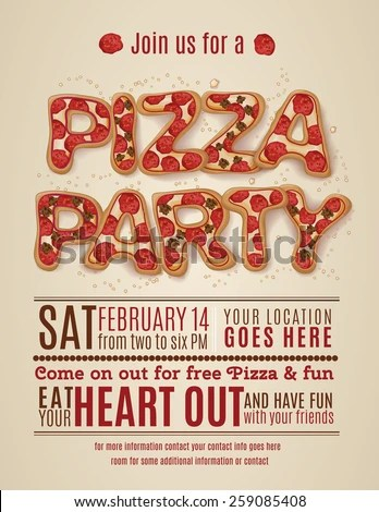 Vector Pizza Party Flyer Invitation Template Stock Vector (Royalty - invitation template