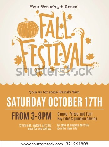Fun Fall Festival Invitation Flyer Stock Vector 321961808 - Shutterstock