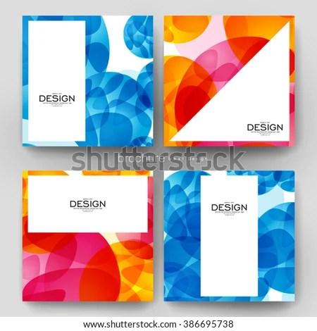 Abstract Background Vector Brochure Template Flyer Stock Vector