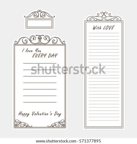 Vector Set Paper Note Bookmark Sticker Stock Vector 571377895