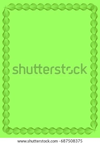 Light Green Solid Background Abstract Vertical Stock Illustration - solid green border