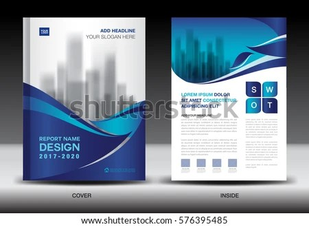 Annual Report Brochure Flyer Template Blue Stock Vector (Royalty