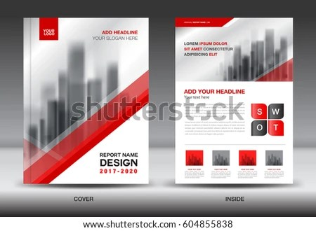 Annual Report Brochure Flyer Template Red Stock Vector HD (Royalty - flyer template