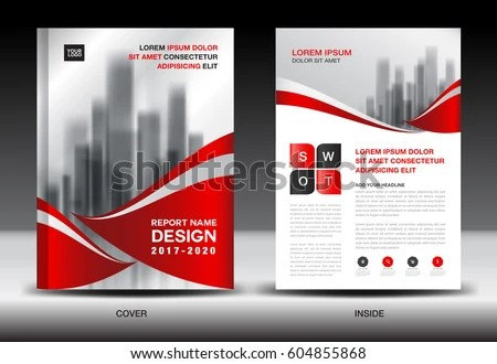 Annual Report Brochure Flyer Template Red Stock Vector HD (Royalty - advertising flyer template