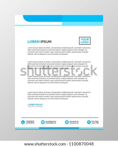 Professional Letterhead Templates Design Vector Illustration Stock