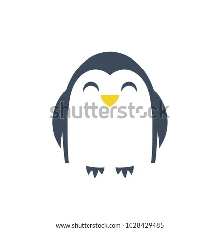 Penguin Logo Template Isolated Vector Icon Stock Photo (Photo