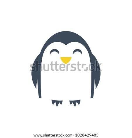 Penguin Logo Template Isolated Vector Icon Stock Photo (Photo - penguin template
