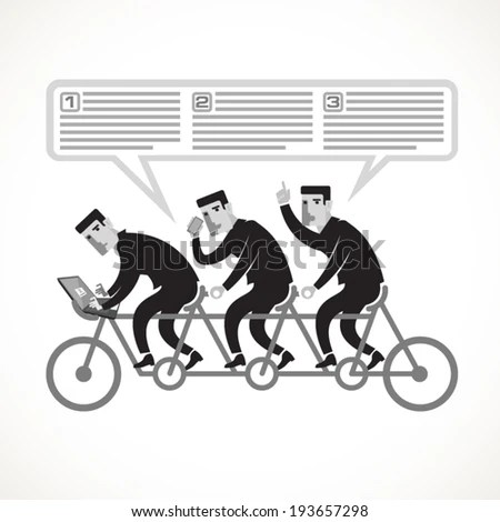 Businessmen Cycling On Tandem Bike Example Stock Vector (2018 - an example of teamwork