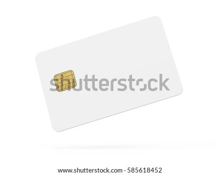 Blank Credit Card Template Empty Chip Stock Illustration 585618452 - printable credit card template