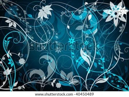 Turquoise Flower Background Stock Illustration 40450489 - Shutterstock