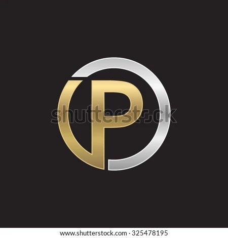 P Initial Circle Company PO OP Stock Vector 325478195 - Shutterstock