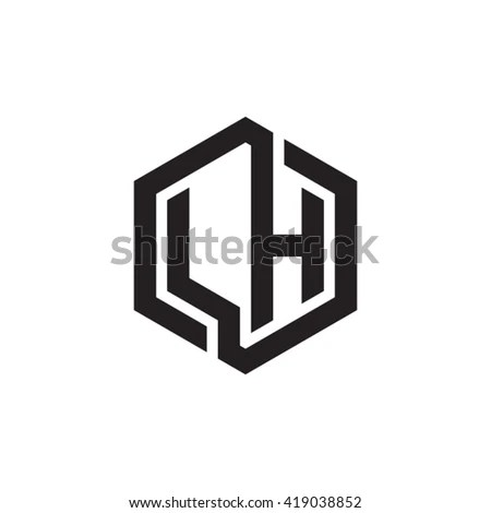 stock-vector-lh-initial-letters-looping-linked-hexagon-monogram - sample applicant rejection letter