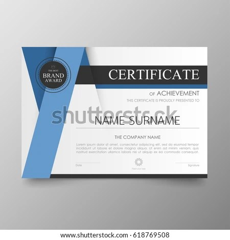 Certificate Premium Template Awards Diploma Background Stock Vector - certificate layout