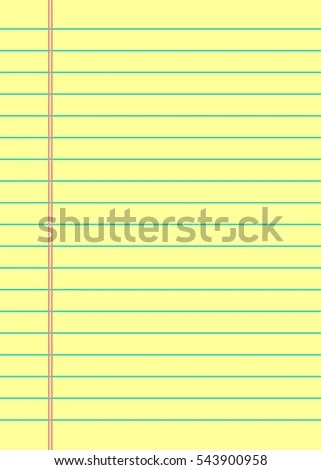 Notebook Paper Background Yellow Lined Paper Stock Vector 543900958 - line paper background