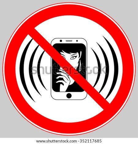 No Mobile Phone Allowed Sign Turn Stock Photo (Photo, Vector - Turn Off Cell Phone Sign