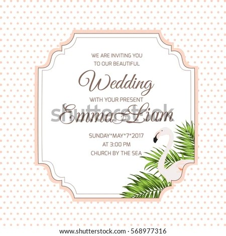 Wedding Marriage Event Invitation Card Template Stock Vector - event card template