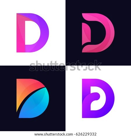 Set Letter D Logo Icon Signs Stock Vector HD (Royalty Free