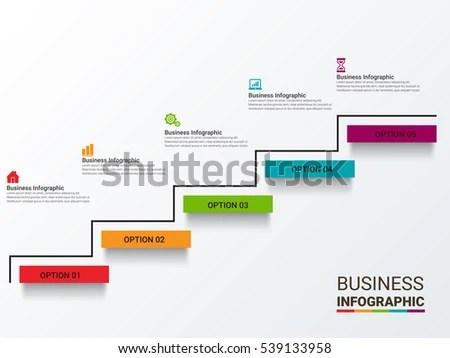 Vector Infographics Collection Templates Diagram Graph Stock Photo
