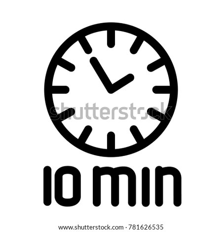 10 minute countdown timer with workout music minutes clock face ten