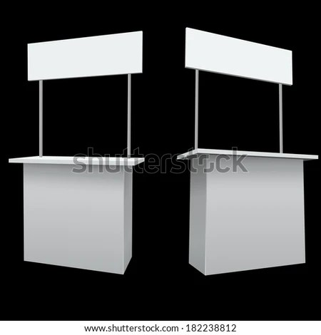 Blank White Promo Booth Vector Template Stock Photo (Photo, Vector - po booth template