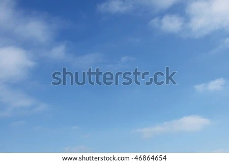 Basic Blue Sky Background Stock Photo (Download Now) 46864654