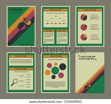 Vintage Presentation Templates Annual Financial Report Stock Photo - financial report templates